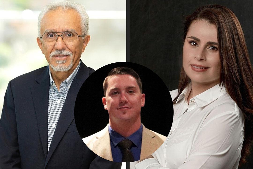 José Luis Laparra, Kyle Brown y Angela Mejía. Foto: Hamlet Protein