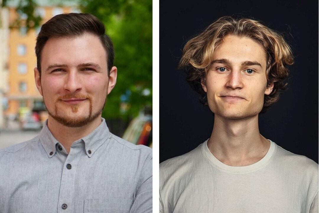 Los cofundadores de la empresa sueca Volta Greentech, Leo Wezelius (CMO) y Angelo Demeter (jefe de I+D). Fotos: Volta Greentech