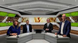 La alineación del webinar, con los ponentes de izquierda a derecha Nienke de Groot, Dr. Peter Ramaekers, Vincent ter Beek (anfitrión) y el Prof. Leo den Hartog. - Foto: Webcast de la empresa