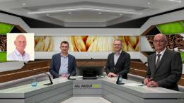 La alineación del seminario web sobre la seguridad de la alimentación, de izquierda a derecha: Wim van de Poel, Kobe Lannoo, Vincent ter Beek (anfitrión) y Johan den Hartog. - Foto: Webcast de la empresa
