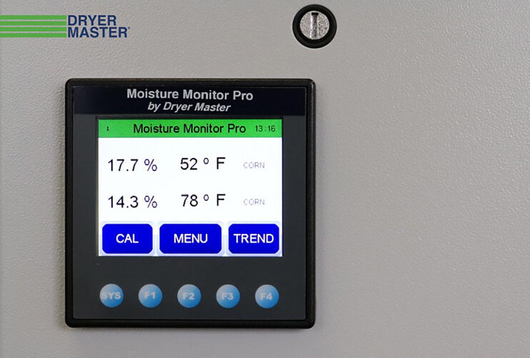 El Monitor de Humedad Pro de Kentra podría utilizarse con secadores de grano por lotes y para registrar la humedad media del grano de los envíos recibidos por los molinos y almacenes comerciales. Foto: Kentra