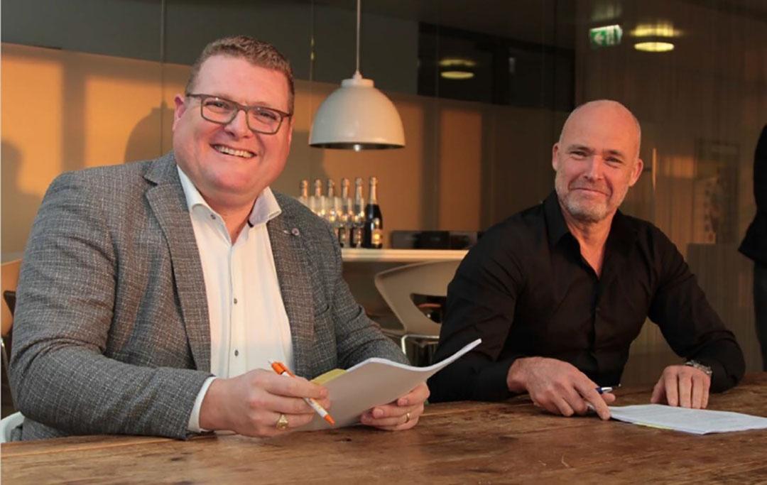 Bart de Bruycker, CEO del Grupo Marvesa, y John Kraakman, CEO de Koole Terminals. Foto: Marvesa