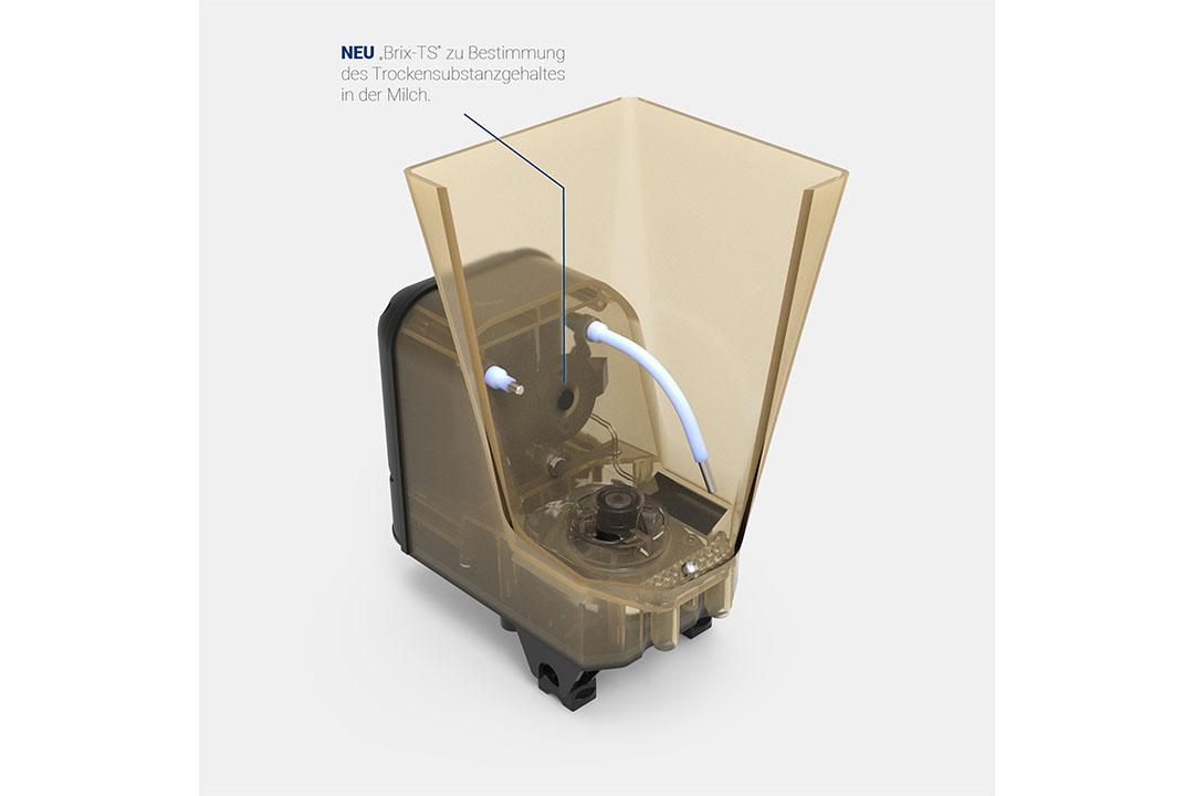 La ayuda está ahora a mano de Holm & Laue con su sensor Brix-TS, un sensor refractómetro electrónico que ha sido integrado en el tanque de mezcla del alimentador automático de terneros 'Calf Expert'. Foto: EuroTier
